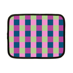 Pink Teal Lime Orchid Pattern Netbook Case (Small)