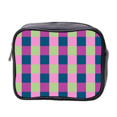 Pink Teal Lime Orchid Pattern Mini Toiletries Bag 2-Side