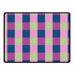 Pink Teal Lime Orchid Pattern Fleece Blanket (Small)