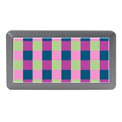 Pink Teal Lime Orchid Pattern Memory Card Reader (Mini)