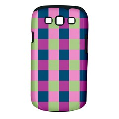 Pink Teal Lime Orchid Pattern Samsung Galaxy S III Classic Hardshell Case (PC+Silicone)