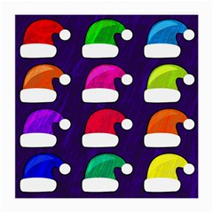 Santa Hats Santa Claus Holidays Medium Glasses Cloth (2-Side)