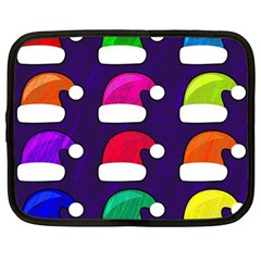 Santa Hats Santa Claus Holidays Netbook Case (Large)