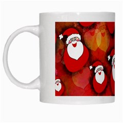 Seamless Santa Tile White Mugs