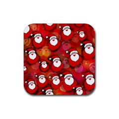Seamless Santa Tile Rubber Coaster (Square)