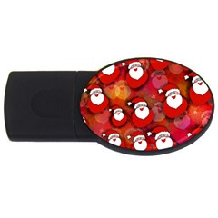 Seamless Santa Tile USB Flash Drive Oval (2 GB)