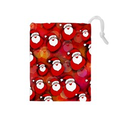 Seamless Santa Tile Drawstring Pouches (Medium)