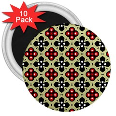Seamless Tileable Pattern Design 3  Magnets (10 pack)