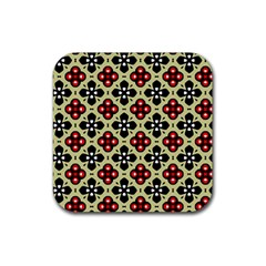 Seamless Tileable Pattern Design Rubber Square Coaster (4 pack)