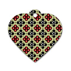 Seamless Tileable Pattern Design Dog Tag Heart (One Side)