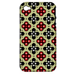 Seamless Tileable Pattern Design Apple iPhone 4/4S Hardshell Case (PC+Silicone)