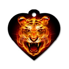 Tiger Dog Tag Heart (Two Sides)