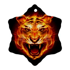 Tiger Snowflake Ornament (Two Sides)