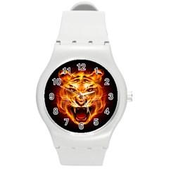 Tiger Round Plastic Sport Watch (M)