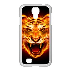 Tiger Samsung GALAXY S4 I9500/ I9505 Case (White)