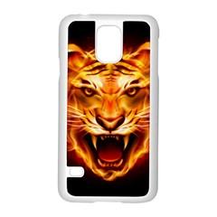 Tiger Samsung Galaxy S5 Case (White)