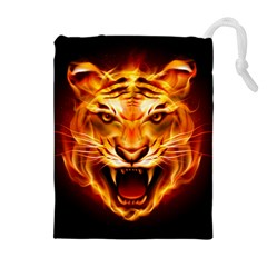 Tiger Drawstring Pouches (Extra Large)