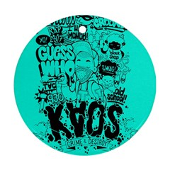 Typography Illustration Chaos Ornament (Round)