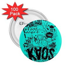 Typography Illustration Chaos 2.25  Buttons (100 pack)