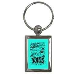 Typography Illustration Chaos Key Chains (Rectangle)