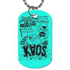 Typography Illustration Chaos Dog Tag (One Side)