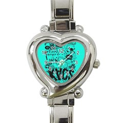 Typography Illustration Chaos Heart Italian Charm Watch