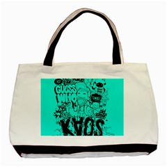 Typography Illustration Chaos Basic Tote Bag (Two Sides)