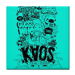 Typography Illustration Chaos Face Towel