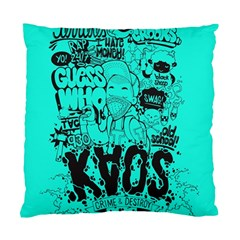 Typography Illustration Chaos Standard Cushion Case (one Side)