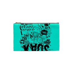 Typography Illustration Chaos Cosmetic Bag (Small)