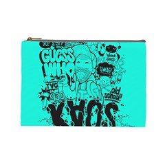 Typography Illustration Chaos Cosmetic Bag (Large)