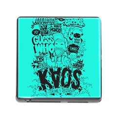 Typography Illustration Chaos Memory Card Reader (Square)