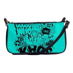 Typography Illustration Chaos Shoulder Clutch Bags