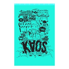 Typography Illustration Chaos Shower Curtain 48  x 72  (Small)
