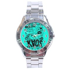 Typography Illustration Chaos Stainless Steel Analogue Watch