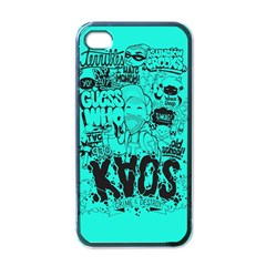 Typography Illustration Chaos Apple iPhone 4 Case (Black)
