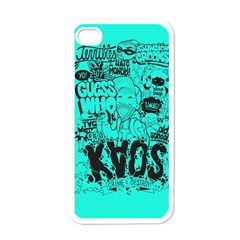 Typography Illustration Chaos Apple iPhone 4 Case (White)
