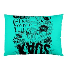 Typography Illustration Chaos Pillow Case (two Sides)