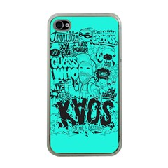 Typography Illustration Chaos Apple iPhone 4 Case (Clear)