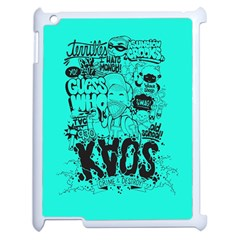Typography Illustration Chaos Apple iPad 2 Case (White)