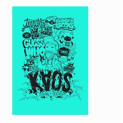 Typography Illustration Chaos Large Garden Flag (Two Sides)