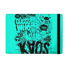 Typography Illustration Chaos Apple iPad Mini Flip Case