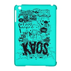 Typography Illustration Chaos Apple iPad Mini Hardshell Case (Compatible with Smart Cover)