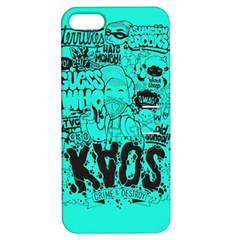 Typography Illustration Chaos Apple iPhone 5 Hardshell Case with Stand
