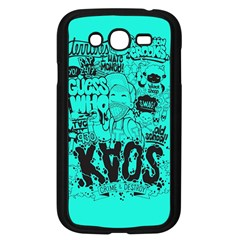 Typography Illustration Chaos Samsung Galaxy Grand Duos I9082 Case (black)