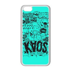 Typography Illustration Chaos Apple iPhone 5C Seamless Case (White)