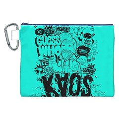 Typography Illustration Chaos Canvas Cosmetic Bag (XXL)
