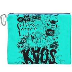 Typography Illustration Chaos Canvas Cosmetic Bag (XXXL)