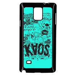 Typography Illustration Chaos Samsung Galaxy Note 4 Case (Black)