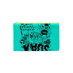 Typography Illustration Chaos Cosmetic Bag (XS)